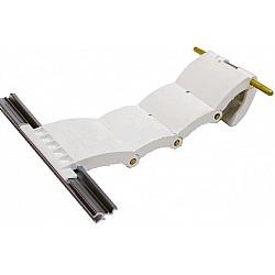 55mm Lath Roller Door Locking Strap 4 Segment - White