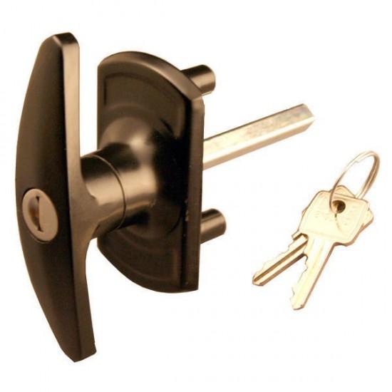 Bonsack T-Handle Lock 18mm Spigots - Black