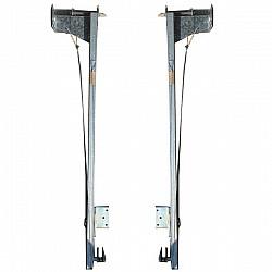 Cardale Double Width Door Slideaway Lift Pivot Link Arms - Multi Spring