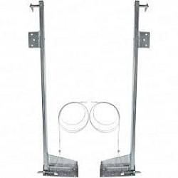 Cardale Double Width Door Slideaway Lift Pivot Link Arms PAIR - Single Spring