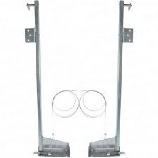 Cardale Double Width Door Slideaway Lift Pivot Link Arms PAIR - Single Spring