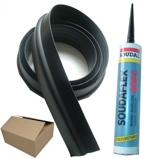 "14ft 6"" - 20mm High Garage Door Rubber Floor Threshold Seal Kit"