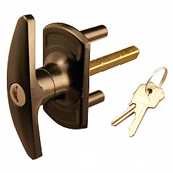 Compton T-handle Garage Door Lock 75mm Shaft