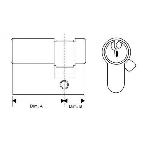 Euro Cylinder Single Side Door Lock Barrel