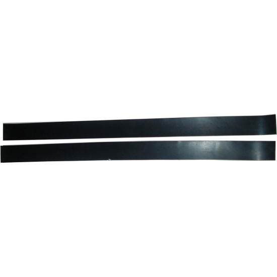 "Garage Door PAIR 30"" Reinforced Rubber Side Seals with Fixings"