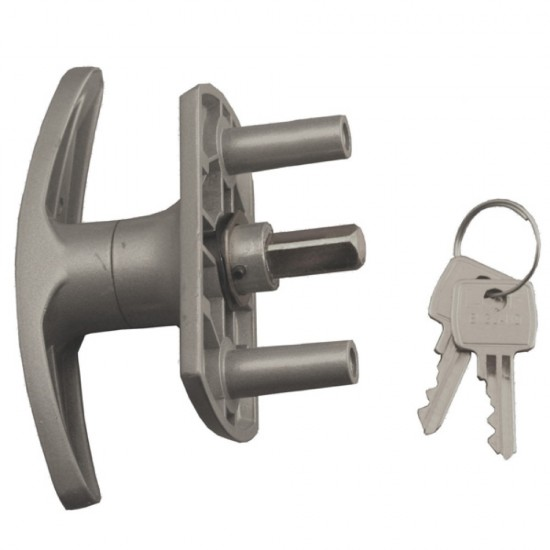 Henderson T-Handle Lock 35mm Spigots Short Shaft