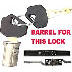 """Gliderol OLD STYLE Inline Roller Shutter Lock 10"""" - Barrel & 2 Keys"""