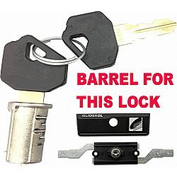 Gliderol new-style Inline Roller Shutter Lock 5 inch - Barrel & 2 Keys