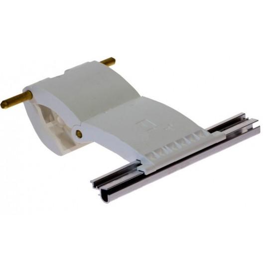 77mm Lath Roller Door Locking Strap 2 segment - White