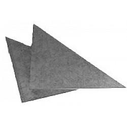 "Pair of 6""x6"" Triangular Corner Plates"