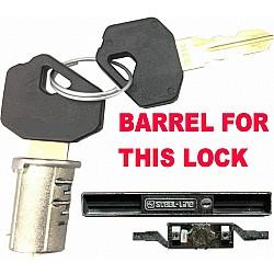 STEEL LINE Old Style Garage Roller Shutter Door Lock - Barrel & 2 Keys